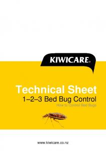 Technical Sheet Bed Bug Control How to Control Bed Bugs
