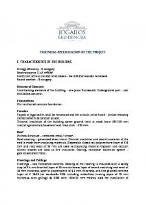 TECHNICAL SPECIFICATION OF THE PROJECT