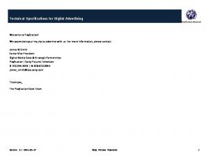 Technical Specifications for Digital Advertising