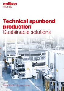 Technical spunbond production Sustainable solutions