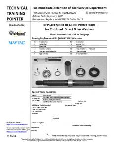 TECHNICAL TRAINING POINTER
