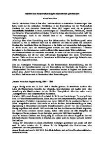 Technik und Industrialisierung im neunzehnten Jahrhundert. Rudolf Heitefuss