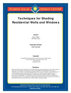 Techniques for Shading Residential Walls and Windows