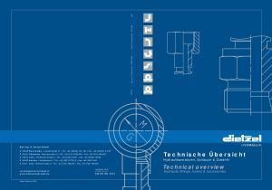 Technische Übersicht Hydraulikarmaturen, Schlauch & Zubehör