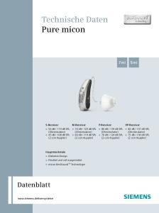 Technische Daten Pure micon
