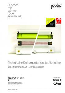 Technische Dokumentation Joulia-Inline
