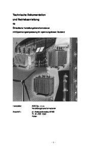 Technische Dokumentation und Betriebsanleitung