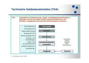 Technische Gebäudeautomation (TGA)