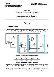 Technische Informatik 1 - HS 2016
