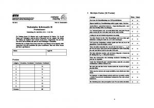 Technische Informatik II Probeklausur