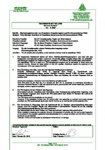 TECHNISCHE MITTEILUNG Service Bulletin No. 1 R0
