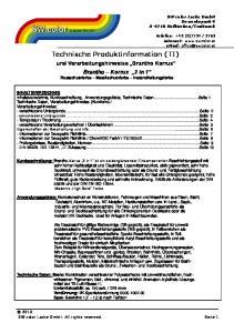 Technische Produktinformation (TI)