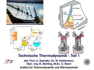 Technische Thermodynamik - Teil 1