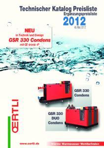 Technischer Katalog Preisliste