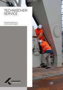 TECHNISCHER SERVICE TECHNISCHER SERVICE MODERNISIERUNG & REFURBISHMENT