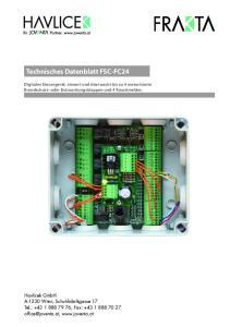 Technisches Datenblatt FSC-FC24