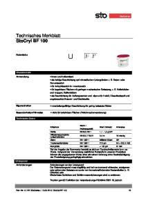 Technisches Merkblatt StoCryl BF 100