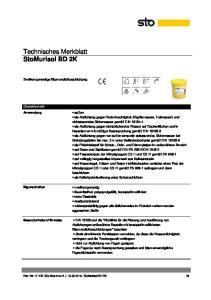 Technisches Merkblatt StoMurisol BD 2K
