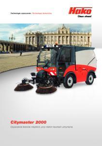 Technologia czyszczenia Technologia komunalna Citymaster 2000