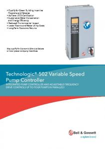 Technologic 502 Variable Speed Pump Controller