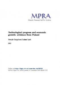 Technological progress and economic growth: evidence from Poland