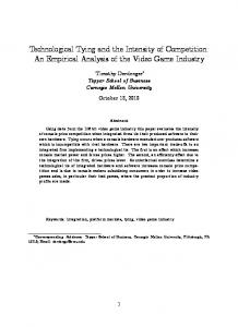 Technological Tying and the Intensity of Competition: An Empirical Analysis of the Video Game Industry