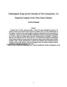 Technological Tying and the Intensity of Price Competition: An. Empirical Analysis of the Video Game Industry