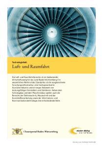 Technologiefeld: Luft- und Raumfahrt