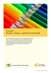 Technologiefeld: Medien-, Kultur- und Kreativwirtschaft