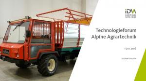 Technologieforum Alpine Agrartechnik