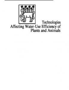 Technologies Affecting Water-Use Efficiency of Plants and Animals