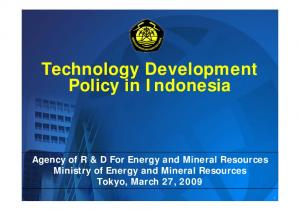 Technology Development Policy in Indonesia