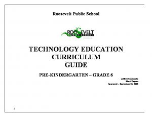 TECHNOLOGY EDUCATION CURRICULUM GUIDE