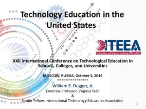 Technology Education in the United States
