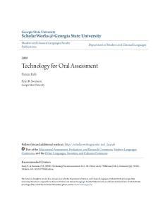 Technology for Oral Assessment