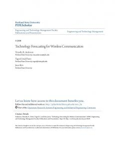 Technology Forecasting for Wireless Communication