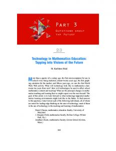 Technology in Mathematics Education: Tapping into Visions of the Future