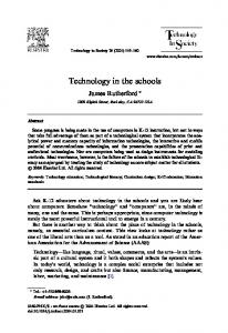Technology in the schools