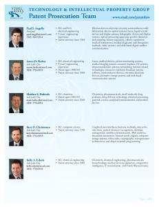 TECHNOLOGY & INTELLECTUAL PROPERTY GROUP Patent Prosecution Team
