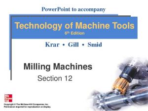 Technology of Machine Tools 6 th Edition