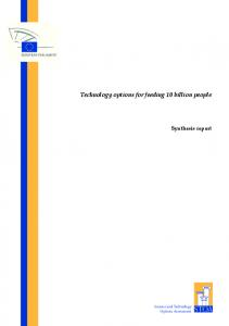 Technology options for feeding 10 billion people Synthesis report