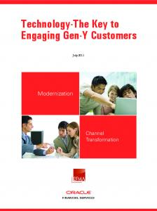 Technology-The Key to Engaging Gen-Y Customers