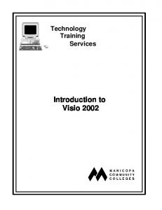 Technology Training Services. Introduction to Visio 2002
