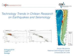 Technology Trends in Chilean Research on on Earthquakes and Seismology