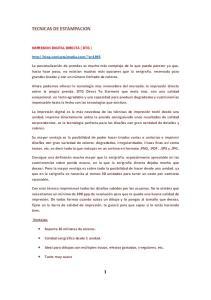 TECNICAS DE ESTAMPACION