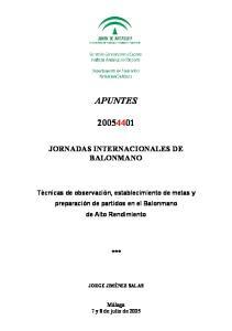 TÉCNICAS DE OBSERVACIÓN, ESTABLECIMIENTO DE METAS Y PREPARACIÓN DE PARTIDOS EN EL BALONMANO DE ALTO RENDIMIENTO