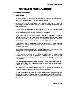 TECNICAS DE PRESENTACIONES
