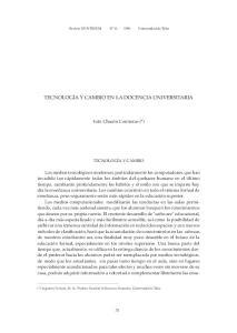 TECNOLOGÍA Y CAMBIO EN LA DOCENCIA UNIVERSITARIA