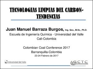 TECNOLOGIAS LIMPIAS DEL CARBON- TENDENCIAS
