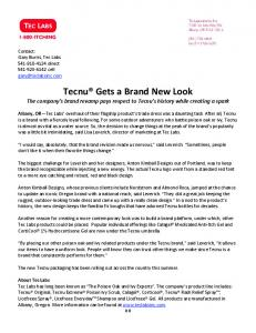 Tecnu Gets a Brand New Look The company s brand revamp pays respect to Tecnu s history while creating a spark